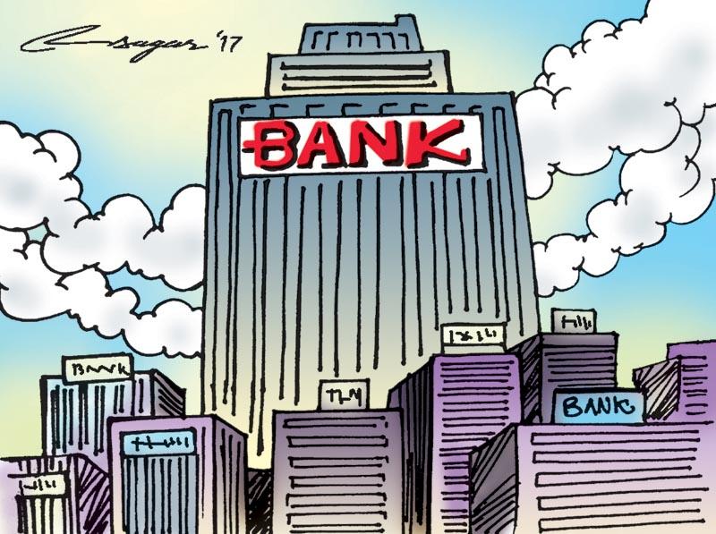 Bank. Illustration: Ratna Sagar Shrestha/THT