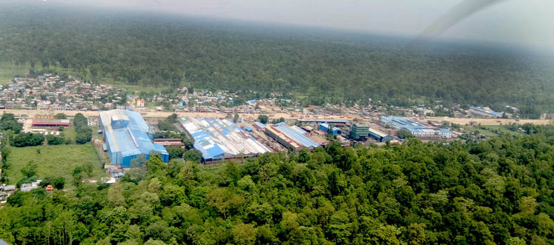 An aerial view of Industrial Estate in Bara district as captured on Saturday, June 10, 2017. Photo: Ram Sarraf