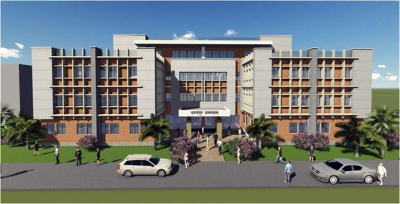 An image of the proposed 'C-block- building of the Bharatpur Hospital in Chitwan Distict. Photo Coutesy: Bharatpur Hospital official website