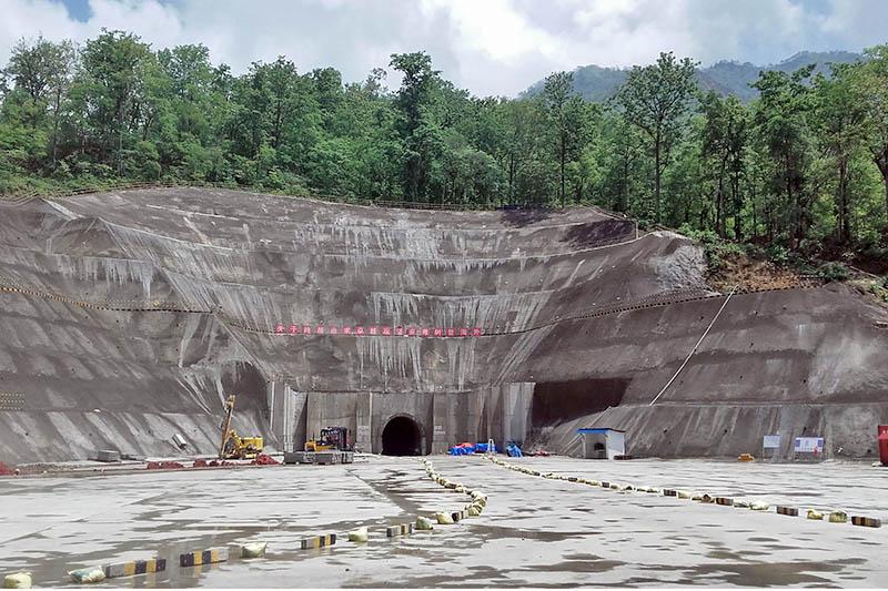 Bheri Babai Diversion Multipurpose Project in Bheriganga Municipality in Surkhet, on Tuesday, June 27, 2017. Photo: RSS