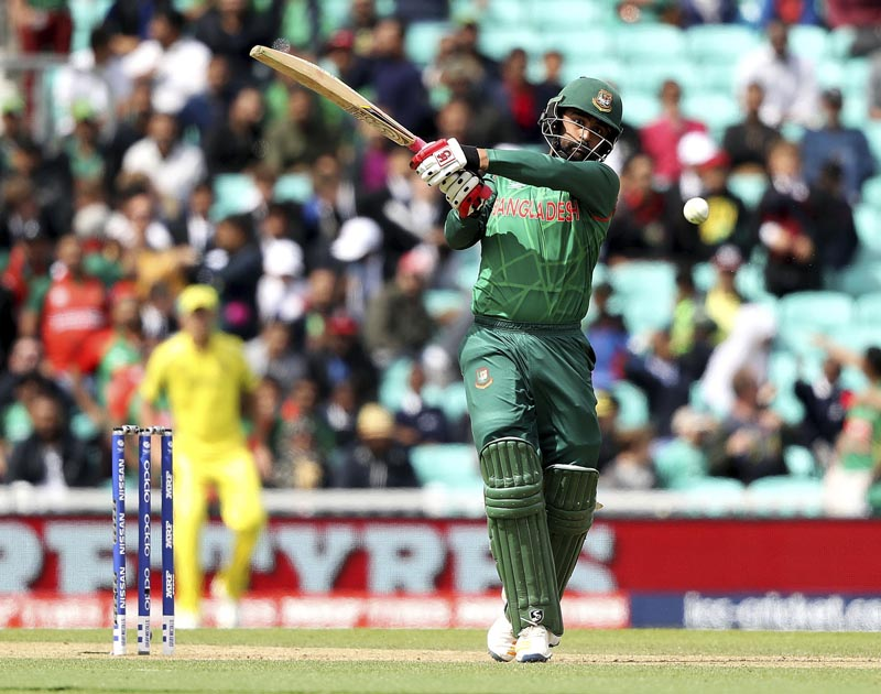 Bangladesh's Tamim Iqbal in action during the ICC Champions Trophy, Group A match between Australia and Bangladesh at The Oval in London, on Monday June 5, 2017. Photo: Adam Davy/PA via AP
