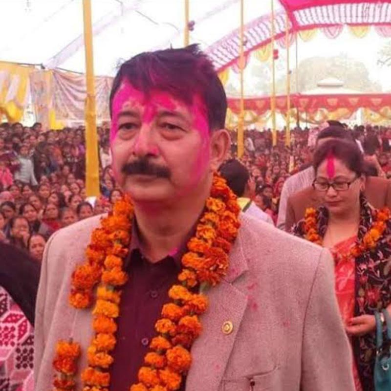 A file photo of businessman Raj Kumar Shrestha of Dang, who has gone out of contact since Friday, June 9, 2017. Photo: THT
