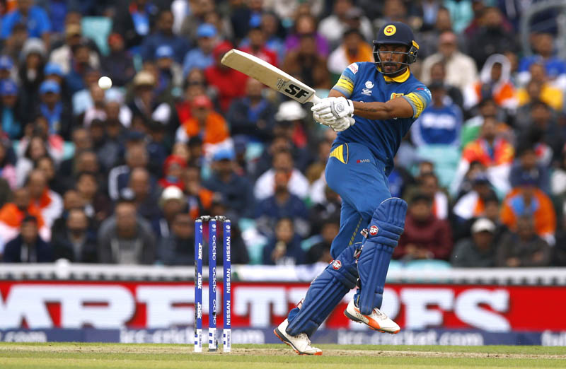 Sri Lanka's Danushka Gunathilaka in action. Photo: Reuters