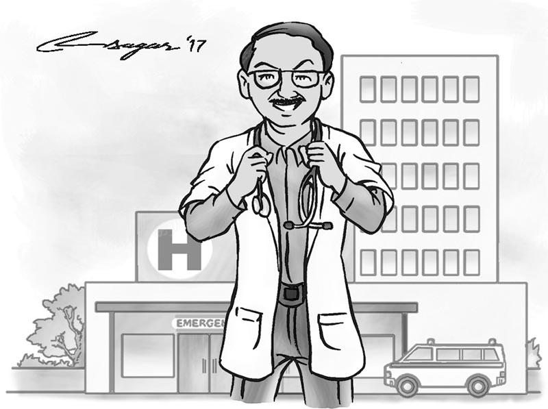 Doctor. Illustration: Ratna Sagar Shrestha/THT
