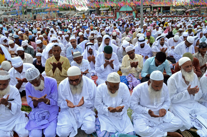Muslims recite Namaz in a mosque, in Birgunj, on Monday, June 26,2017. Photo: Ram Sarraf