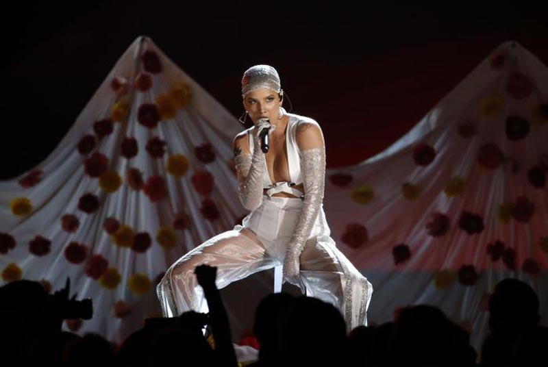 Halsey performs 'Now or Never.' Photo: Reuters