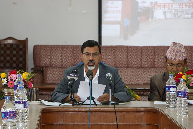 Home Minister Janardan Sharma  unveiling  'Accountable Home Administration: Law and Order and Good Governance 2017' at the Ministry of Home Affairs on Tuesday, June 27, 2018. Photo: RSS
