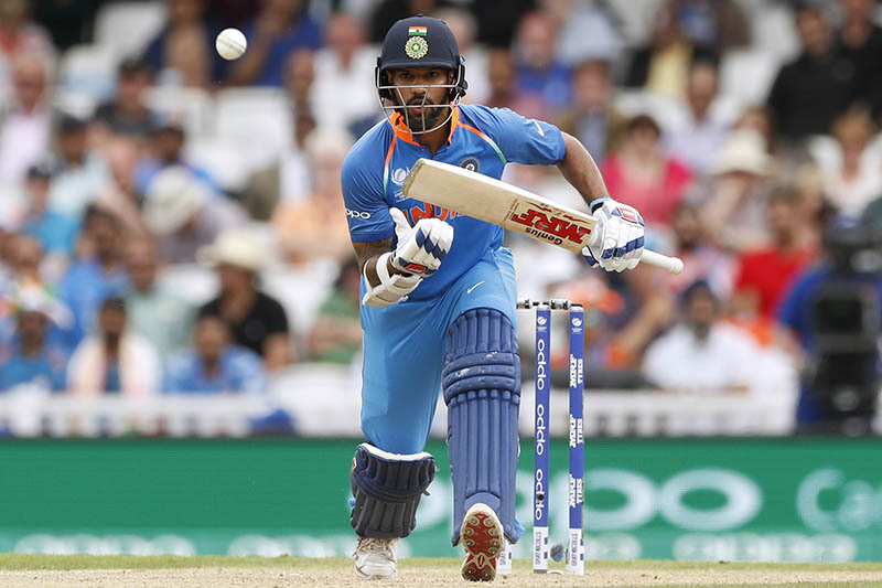 India's Shikhar Dhawan in action. Photo: Reuters