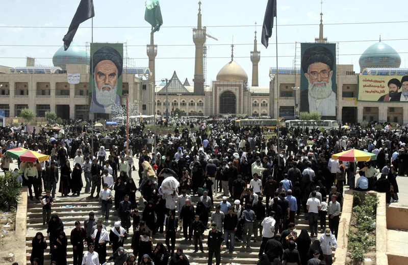 FILE - This June 4, 2007 file photo shows Iranians in Tehran attending ceremonies on the 18th anniversary of the death of Iran's late leader Ayatollah Ruhollah Khomeini, outside his shrine. Photo: AP