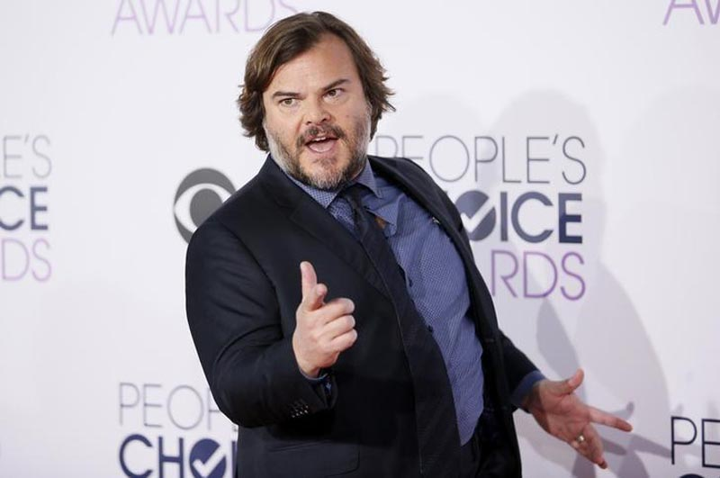 Actor Jack Black arrives at the People's Choice Awards 2016 in Los Angeles, California, on January 6, 2016. Photo: Reuters
