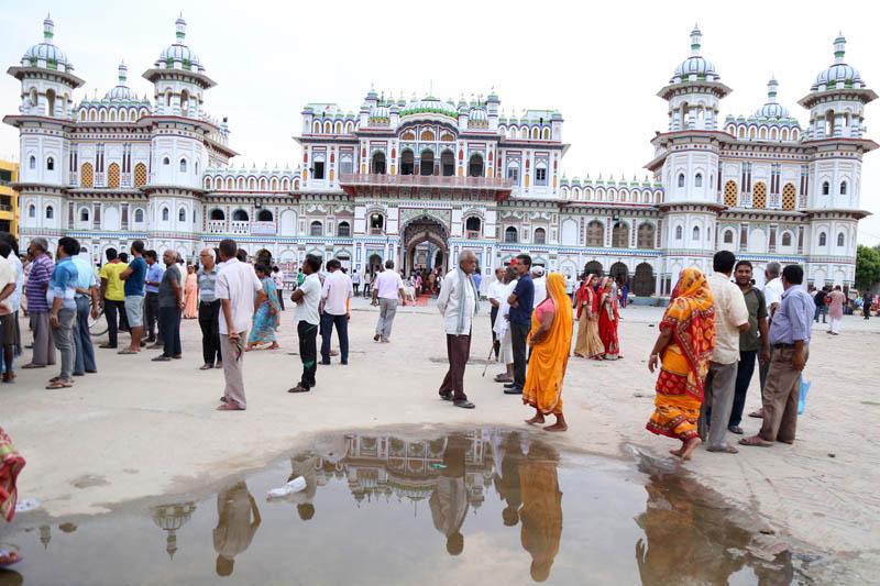 People throng Janaki Temple in Janakpurdham, on Friday, June 9, 2017. Photo: RSS