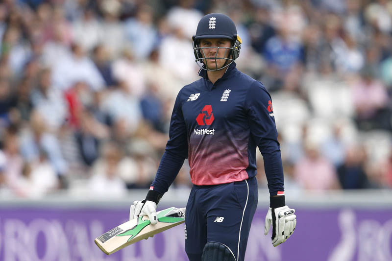 England 's Jason Roy looks dejected after losing his wicket. Photo: Reuters
