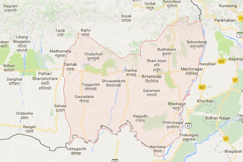 Jhapa, Nepal. Source: Google