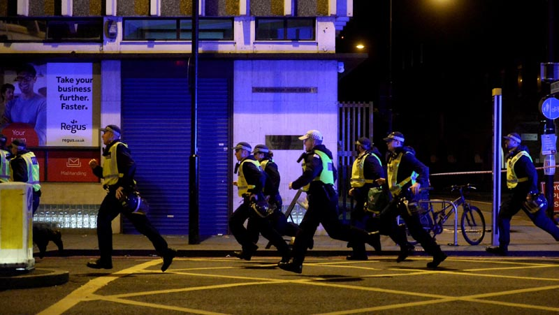 Police attend to an incident on London Bridge in London, Britain, on June 3, 2017. Photo: Reuters