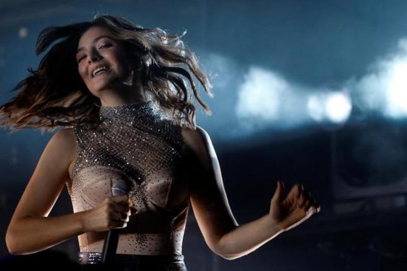 Lorde performs during the Coachella Valley Music and Arts Festival in Indio, California, US, on April 16, 2017.