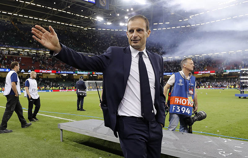 Juventus coach Massimiliano Allegri after the match. Photo: Reuters