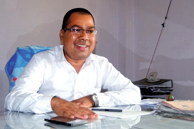 Inerview with the Department of Foreign Employment spokesperson Mohan Adhikari in Kathmandu on Sunday, June 11, 2017. Photo: Bal Krishna Thapa/ THT