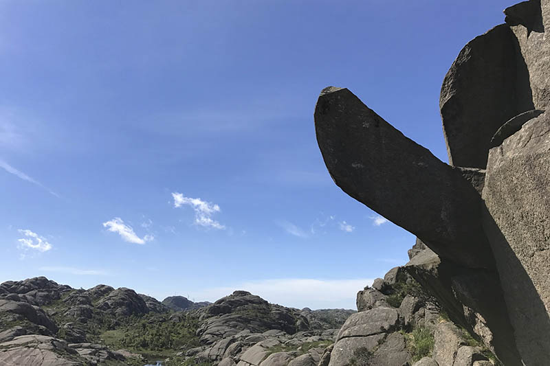 This undated photo shows the rock formation Trollpikkenin before its damage, in Egersund, western Norway. Photo: AP