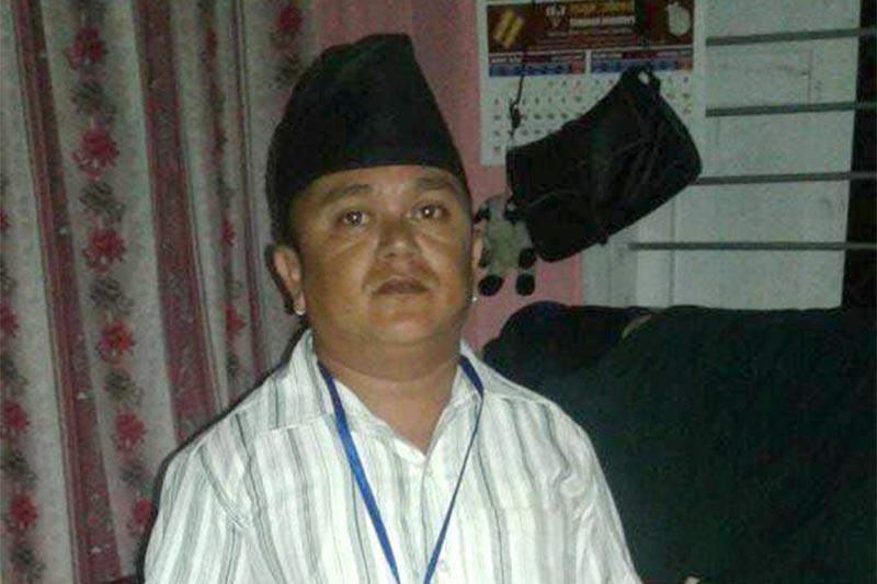 Pankaj Karki, a ward member candidate for Bhadrapur Municipality-8. Photo: RSS