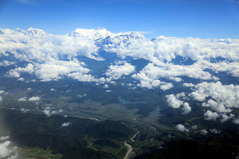 A breathtaking view of Pokhara, as captured on Thursday, June 29, 2017. Photo: RSS
