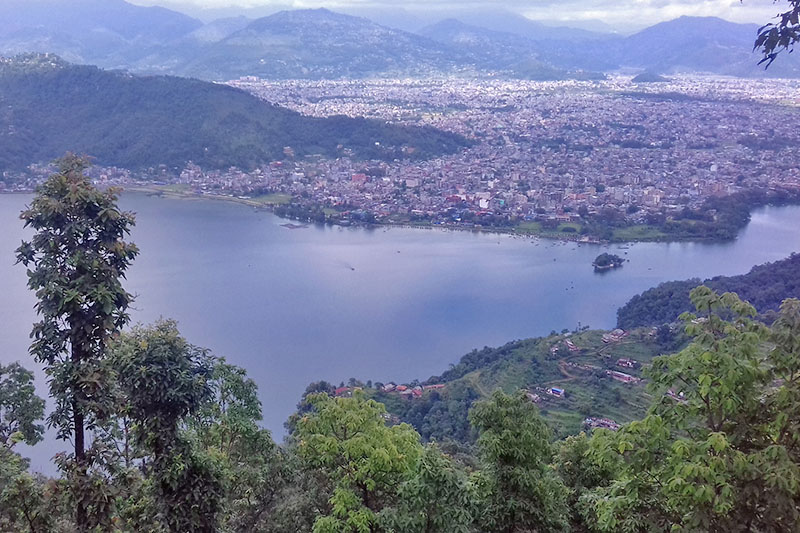 A spectacular view of Pokhara as seen from pumdi of Kaski district, on Sunday, June 25, 2017. Photo: RSS