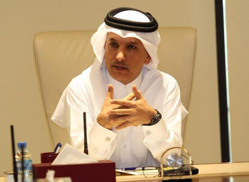 Qatar's Finance minister Ali Sherif al-Emadi speaks during a briefing on the financial outlook for Qatar, in Doha, Qatar, on February 7, 2017. Photo: Reuters