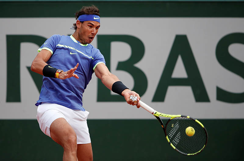 Spain's Rafael Nadal in action during his quarter final match against Spain's Pablo Carreno Busta. Photo: Reuters