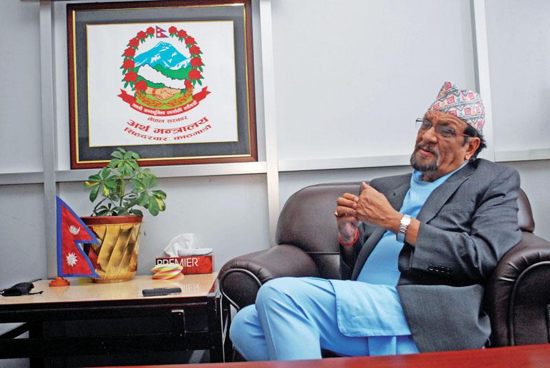 Interview with former Finance Minister Ram Sharan Mahat in Kathmandu on June 04, 2017. Photo: Bal Krishna Thapa/ THT