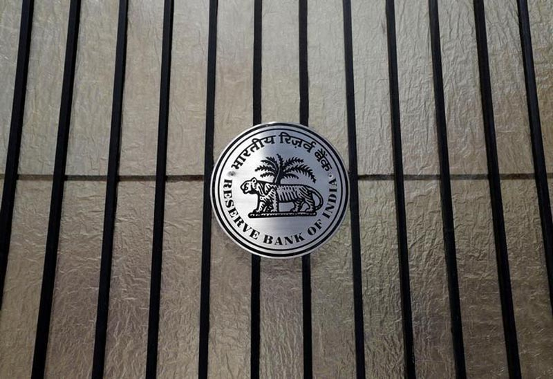 A Reserve Bank of India (RBI) logo is seen at the entrance gate of tts headquarters in Mumbai, India, on June 7, 2017. Photo: Reuters