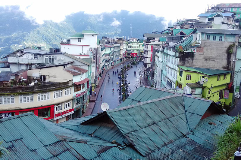 A view of downtown Gantok in Sikkim state in India, as captured on Tuesday, June 13, 2017. Photo: RSS