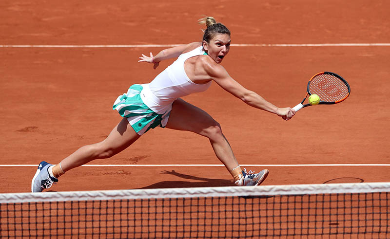 Romania's Simona Halep in action during her quarter final match against Ukraine's Elina Svitolina. Photo: Reuters
