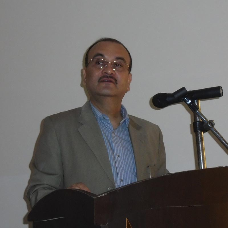 Chief Secretary Som Lal Subedi speaking at an orientation programme for newly elected local level representatives in Kaski on June 13, 2017. Photo: RSS