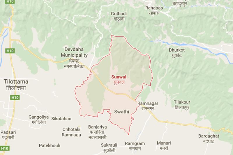 Sunwal, Nawalparasi. Source: Google