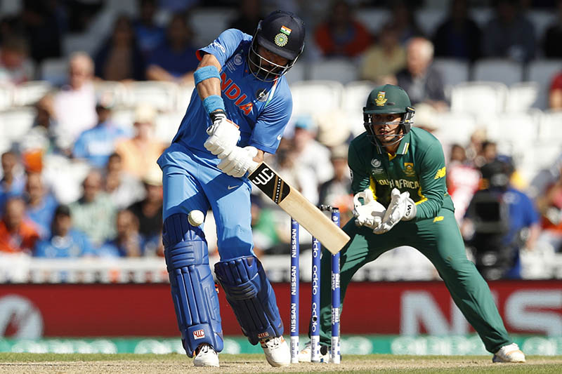 India's Yuvaj Singh hits a six to win the match. Photo: Reuters