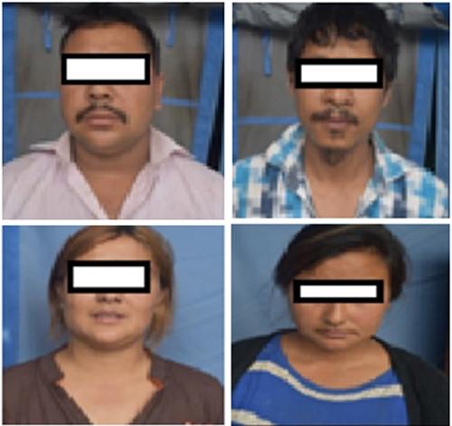 FROM TOP LEFT: Arrestee Shakti Bishwakarma, Madan Krishna Maharjan, Anju Deula Maharjan and Anju Bharati. Photo: MCD/ THT Online