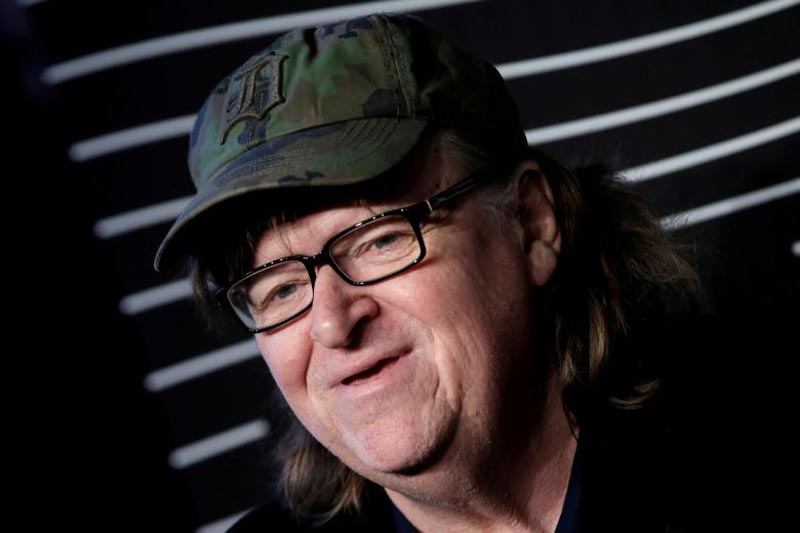 Filmmaker Michael Moore poses as he arrives for the 20th Annual Webby Awards in Manhattan, New York, US, on May 16, 2016. Photo: Reuters