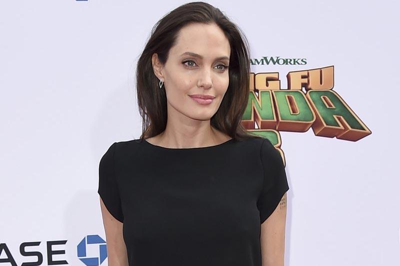 Angelina Jolie arrives at the world premiere of u201cKung Fu Panda 3,u201d in Los Angeles, on January 16, 2016. Photo: AP/ File
