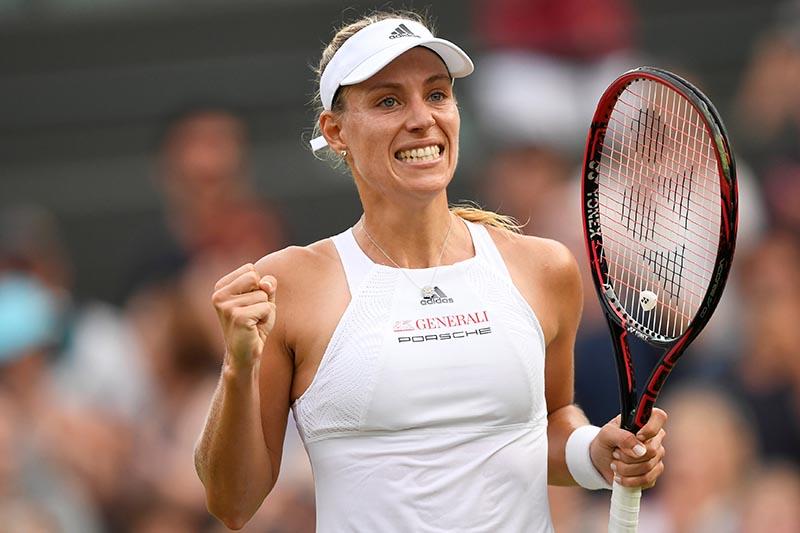 Germanyu2019s Angelique Kerber celebrates winning the second round match against Belgiumu2019s Kirsten Flipkens. Photo: Reuters