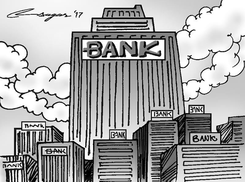 Banks. Illustration: Ratna Sagar Shrestha/THT