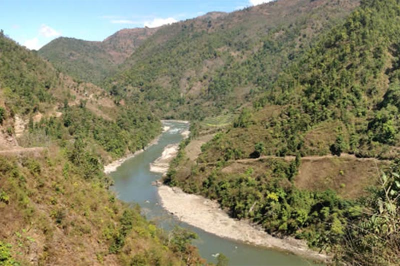 FILE - Budhigandaki River where the Budhigandaki Hydropower Project will be carried out. Photo Courtsey: Nepal Government BHPDC