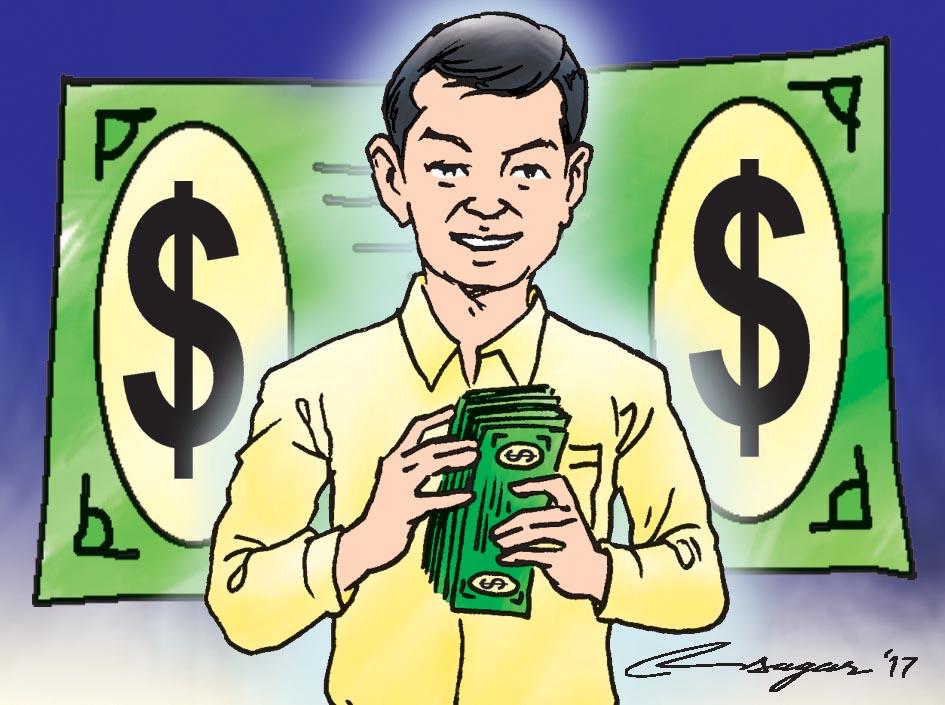Dollars. Illustration: Ratna Sagar Shrestha/THT
