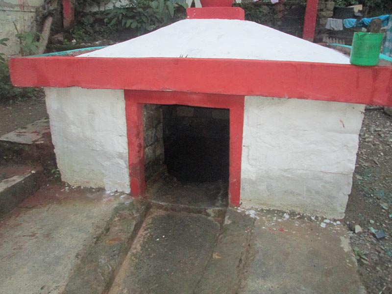 The legendary Ghansi Kuwa ( a well) dug by a grass cutter nearly two hundred years ago at Bhanu Ghansi Memorial Park in Tanahun district. Photo: Madan Wagley