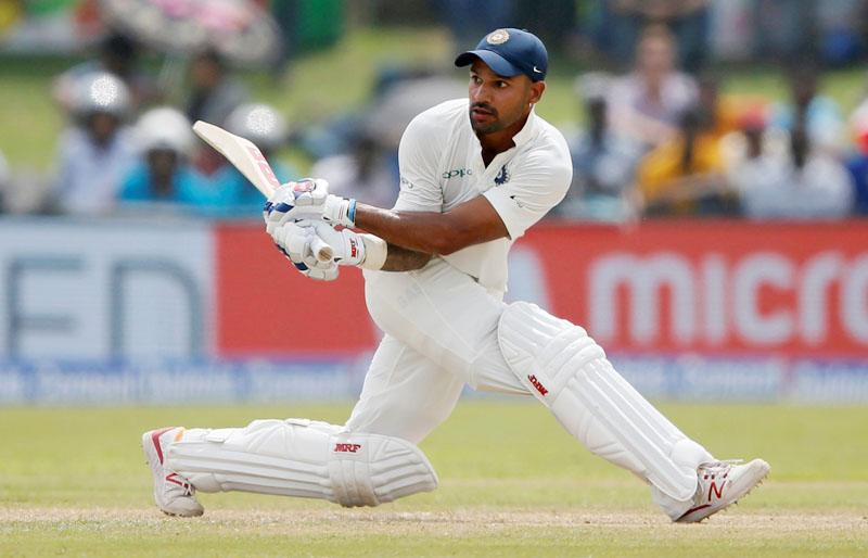 India's opening batsman Shikhar Dhawan plays a shot. Photo: Reuters