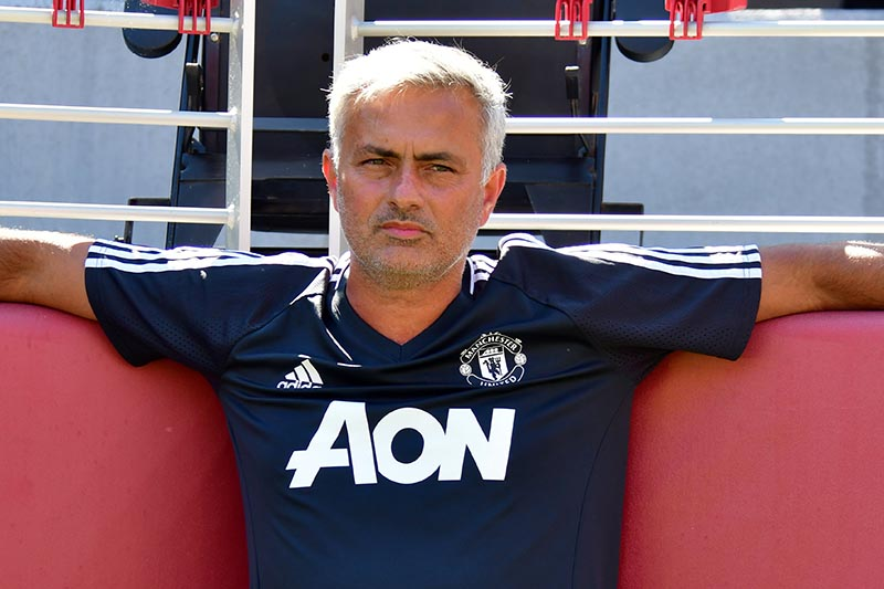 Manchester United manager Jose Mourinho, in a International Champions Cup match between Real Madrid and Manchester United, in Santa Clara, USA, on July 23, 2017. Photo: Reuters.