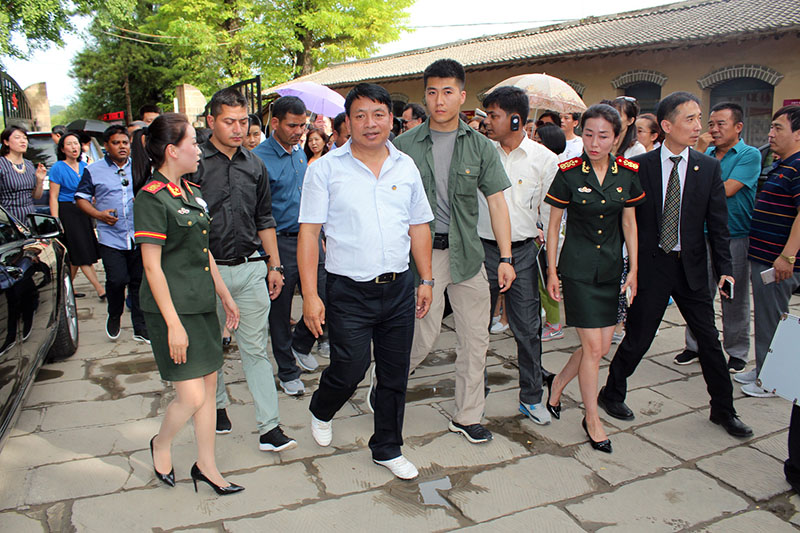 Vice President Nanda Bahadur Pun (centre) during his visit in China on July 08, 2017. Photo: RSS