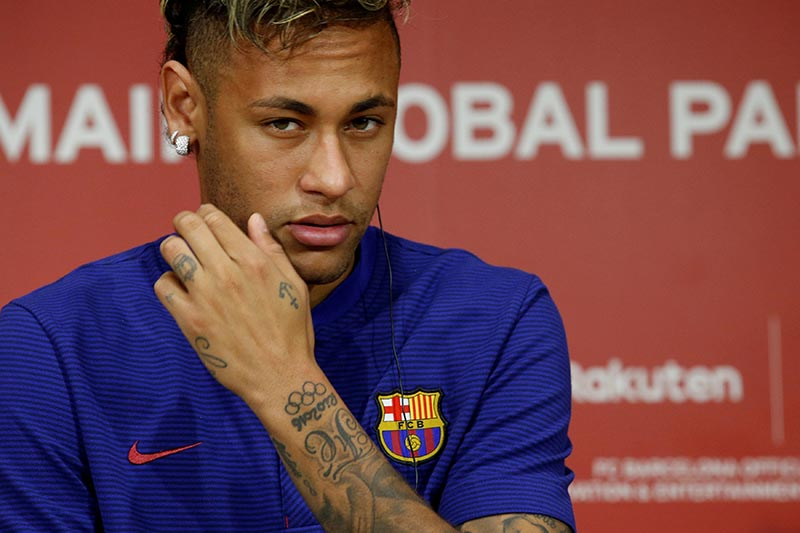 FC Barcelona player Neymar attends a news conference in Tokyo, Japan, on July 13, 2017. Photo: Reuters/ File