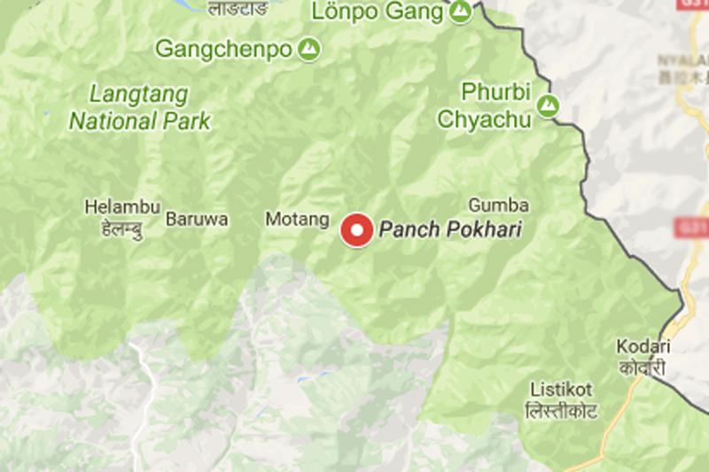 Panchpokhari, Sindhupalchok district. Source: Google maps