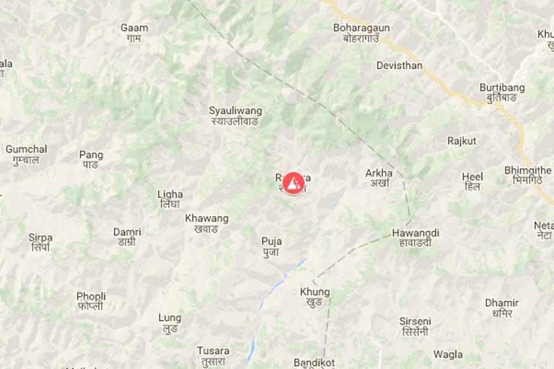 Rajwara, Pyuthan. Source: Google maps