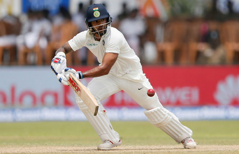 India's cricketer Shikhar Dhawan plays a shot. Photo: Reuters