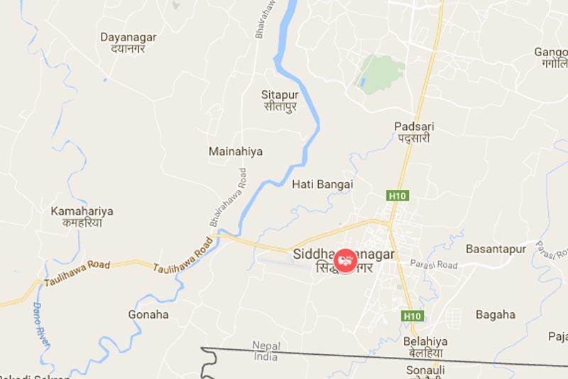 Siddharthanagar Municipality, Rupandehi. Source: Google Maps